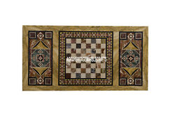 Traditional Marble Hallway Table Top Marquetry Inlay Stone Outdoor Decor H4012