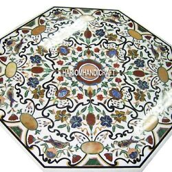 36 White Marble Dining Room Table Precious Inlaid Art And Free Jewelry Box Gift