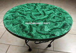 Green Marble Dining Table Top Mosaic Malachite Inlaid With Occasion Decor H2057