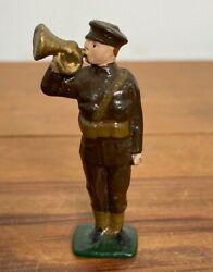 Very Rare Antique John Hill And Co Wwi Tommy Bugler Bandsman Lead Soldier Britains