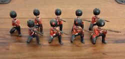 9 X Antique John Hill And Co British Household Foot Guards Lead Soldiers Britains