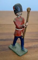 Antique John Hill And Co Guardsman Drum Major Military Band Britains