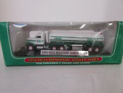 Hess 1998 Miniature Tanker Truck Display With Base Works Lotd
