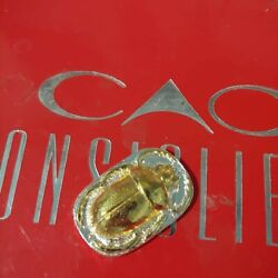 Scarab Bettle Hand Pour 999 Fine Silver Bullion With 24k Gold Gild