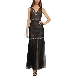BCBGMAXAZRIA Womens Lace Embellished Formal Evening Dress Gown BHFO 0398 $76.99