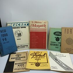 Lot Of 8 Antique Ford / Mercury Passenger And Commercial Reference Books 1935-1976