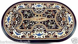 2.5 And039x5and039 Marmor Ess Table Top Pietradure Inlay Mosaik Callectible Kunst H1546