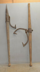 2 Antique Logging Tools 2 Man Log Carrier And Peavy Collectible Lumberman Lot