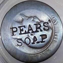 1880and039s Pearsand039 Soap Token C/s On A French Centimes