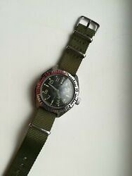 Mens Ussr Amphibia Black Dial Vostok Waterproof With A New Strap