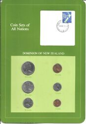 Coins Of All Nations - New Zealand  - 6 Coin Set - 1980-1981 Coan 71