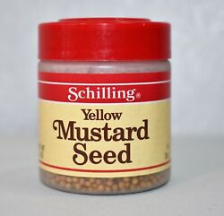 Yellow Mustard Seed Schilling Pack Of 2 1.4 Oz Bottles New Vintage