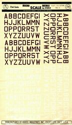 1/72 72-48 Micro Scale Decals Raf Id Letters Med. 2 Rare Vintage