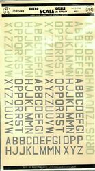 1/72 72-49 Micro Scale Decals Raf Id Letters Med. 3 Rare Vintage
