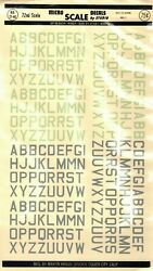 1/72 72-46 Micro Scale Decals Raf Id Letters Med. 2 Rare Vintage