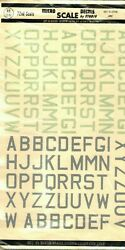 1/72 72-51 Micro Scale Decals Raf Id Letters Large Rare Vintage