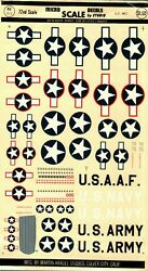 1/72 72-2 Micro Scale Decals Us Ww2 Insignia Rare Vintage - Incomplete