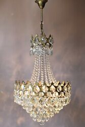 Antique Style Vintage Crystal Chandelier Home Interior Lighting Light Pendant