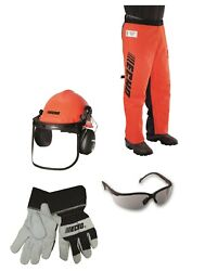 Genuine Echo Chain Saw Safety Kit, Chainsaw Helmet, Gloves, Glasses And Chaps