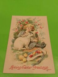 Post Card Loving Easter Greetings Never Been Sent Good Condition About 1915