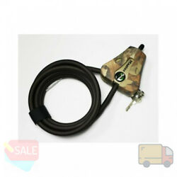 Master Lock Python 6 Foot Long Adjustable Cable Security Lock With Keys, Camo