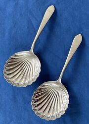 2 Wadefield Nut Or Bonbon Spoons S Kirk And Son Sterling Silver No Monograms