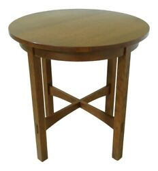 51451ec Stickley Mission Style Round Cherry Lamp Table