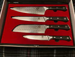 Chiefs Knife Set With Wooden Case.amazing Set Of Knifes.