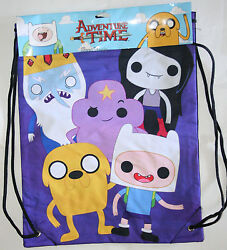 ADVENTURE TIME With FINN amp; JAKE Purple CINCH BACK SACK BACKPACK 13quot; X 17quot; NWT $19.95
