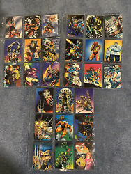 Lot Of 27 1992 Comic Images Marvel Wolverine From Then Til Now Ii 2 Cards