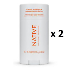 Native Citrus And Herbal Musk Deodorant 75 G - Pack Of 2 - From Canada