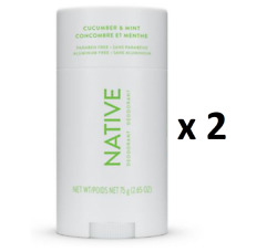 Native Cucumber And Mint Deodorant 75 G - Pack Of 2 - From Canada
