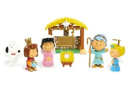 Christmas Peanuts Nativity Deluxe Figure Set Charlie Brown Snoopy Lucy