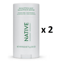 Native Eucalyptus And Mint Deodorant 75 G - Pack Of 2 - From Canada