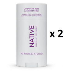 Native Lavendar And Rose Deodorant 75 G - Pack Of 2 - From Canada