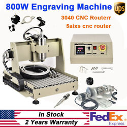 Usb 800w 5axis 3040 Cnc Router Engraver Drilling Milling Machine Cutting Machine