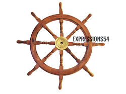 Wooden Ship Wheel Boats Steering Helm Maritime Wall Decor Captains/pirates