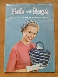 Hats And Bags Book 1950's Knitting And Crochet Pattern Book - Coats And Clark's