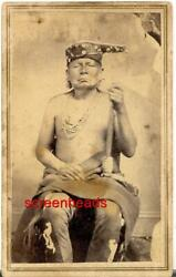 Rare Early Cdv Photo Osage Indian Chief