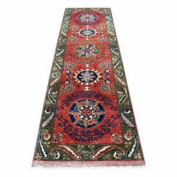 2and0399x9and0399 Red Afghan Ersari With Geometric Wool Hand Knotted Rug R56924