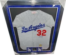 Sandy Koufax Authentic Signed Mitchell N Ness Jersey 636566 Dodgers Framed