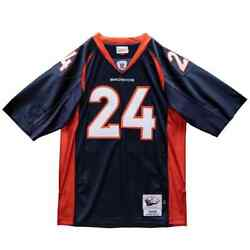 Denver Broncos Champ Bailey 24 Mitchell Ness Navy 1997 Authentic Retired Jersey