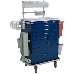 Harloff 7456 Tall 6 Drawer Anesthesia Cart With Electronic Lock