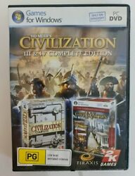 Civilisation 3 And 4 Complete Edition - No Manual - Pc - Free Tracked Postage