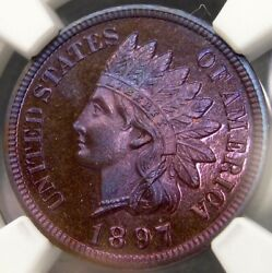 1897 Indian Head Cent/penny Rare Pop 10/0 Magnificent Finest Known Ngc Pf 67 Bn