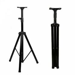 2 Pack 132 Lbs Load Pro Tripod Dj Pa Speaker Stand Adjustable Height With Tray
