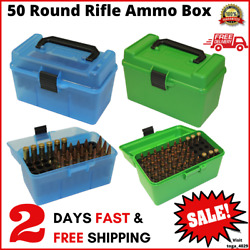 Mtm H50-rm Deluxe 50 Round Rifle Ammo Box 220 Swift 22-250 243 308 Win 6mm Rem