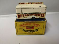 P488-matchbox Lesney No74a Mobile Refreshments Canteen With 'b' Type Box