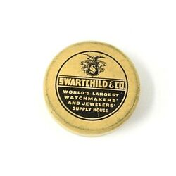 Rare Swartchild Co 1.5 Mini Advertising Round Tin Watch Parts And Jewelry Supply