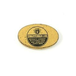 Rare Swartchild Co Oval Mini Advertising Tin Watch Parts Jewelry Supply Scarce